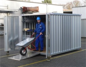 Solutions de stockage magasins hangars d montables for Construction container habitable